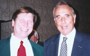 Keynote speaker Bill Goss with Bob Dole