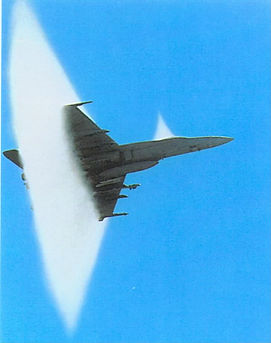 F18 breaking sound barrier