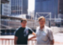 Bill Goss and Brian Goss at site of 9-11 attack