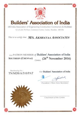 Builder Association (BAI) Member