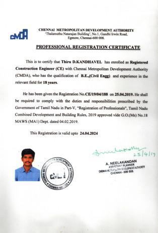 Registered Construction Engineer