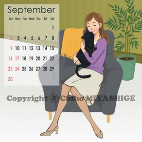 9月のcalendar