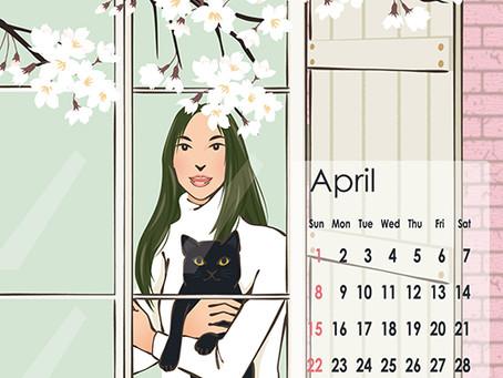 4月のcalendar