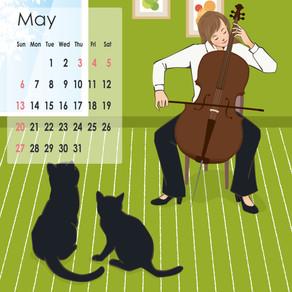 5月のcalendar