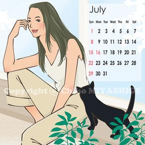 7月のcalendar