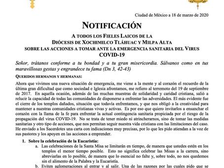 Mensaje de Mons. Andrés Vargas Peña para Sacerdotes con respecto al COVID-19