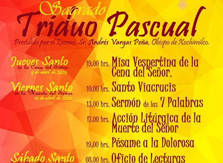 Programa Triduo Pascual