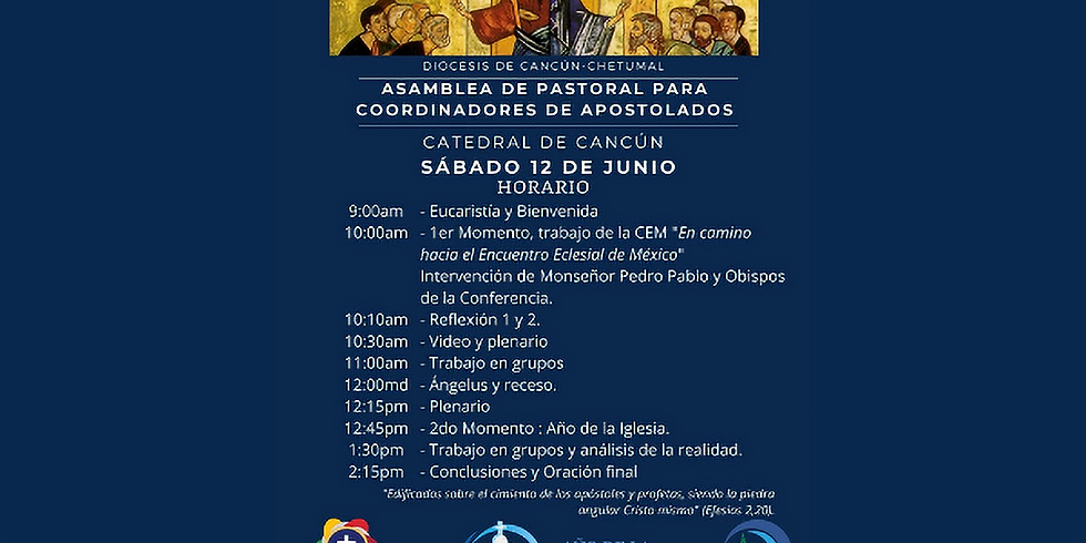 Asamblea de Pastoral para coordinadores de apostolados