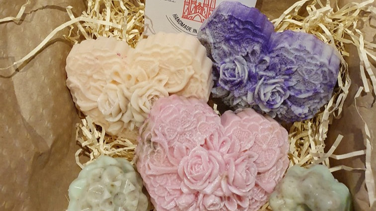 3  HEART SOAPS Essential Oils  Therapeutic LIMITED EDITION