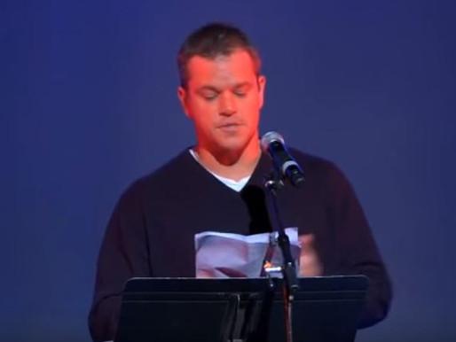 OFF THE RECORD Matt Damon Gives SHOCKING Speech On Global Elite Calling For Global Disobedience! #Vi