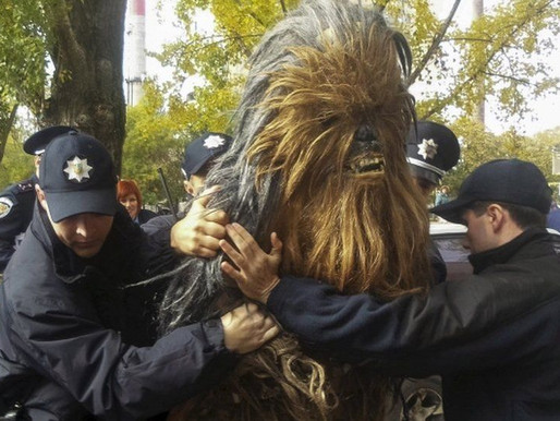 Darth Vader supporter Chewbacca arrested in Ukraine