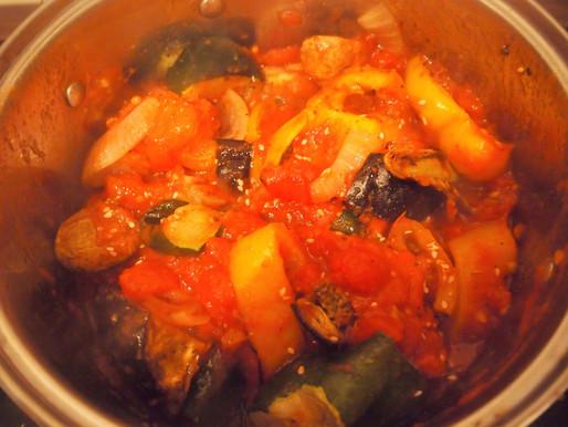 Mediterranean Vegetables with Sage and Sesame Seeds #Vegetarian