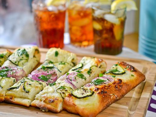 Zucchini & Red Onion Flatbread #guestblog