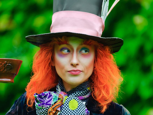 """""""You won't remember me."""" Alice and the Mad Hatter saying goodbye."""