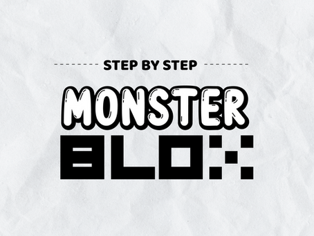 """Monstrous Me"" Monster BLOX - Step by Step"