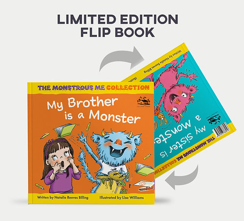 'My Brother is a monster' Limited edition flip book