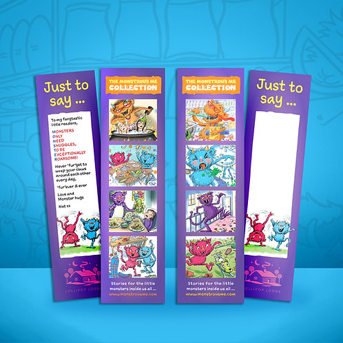 'Monstrous Me' Bookmarks (pick your favourite)