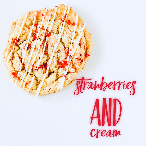 Strawberries and Cream Cookie