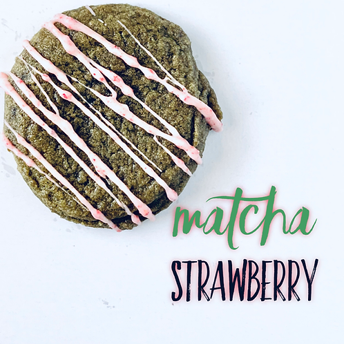 Matcha Strawberry Cookie