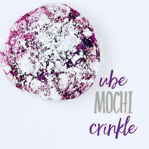 Ube Mochi Crinkle Cookie