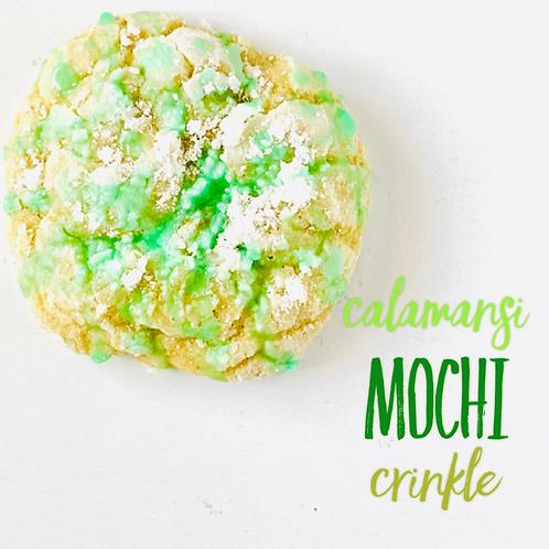 Calamansi Mochi Crinkle Cookie