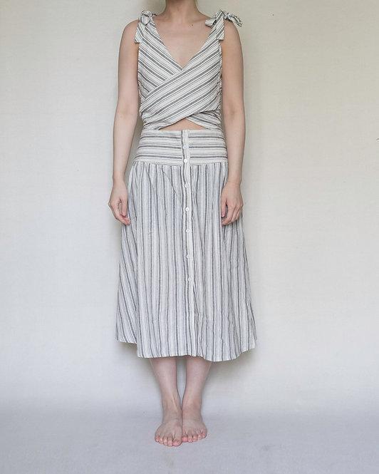 STRIPE DRESS WITH TIES