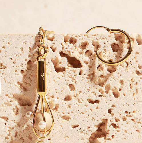 theC | KITCHEN EGGBEATER EARRING NECKLACE // SINGLE