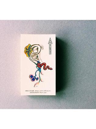 ARRO | GARDEN DENIM BLUE CLIP-ON