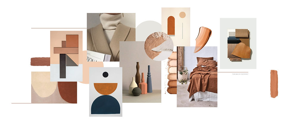 brown outfits idea moodboard