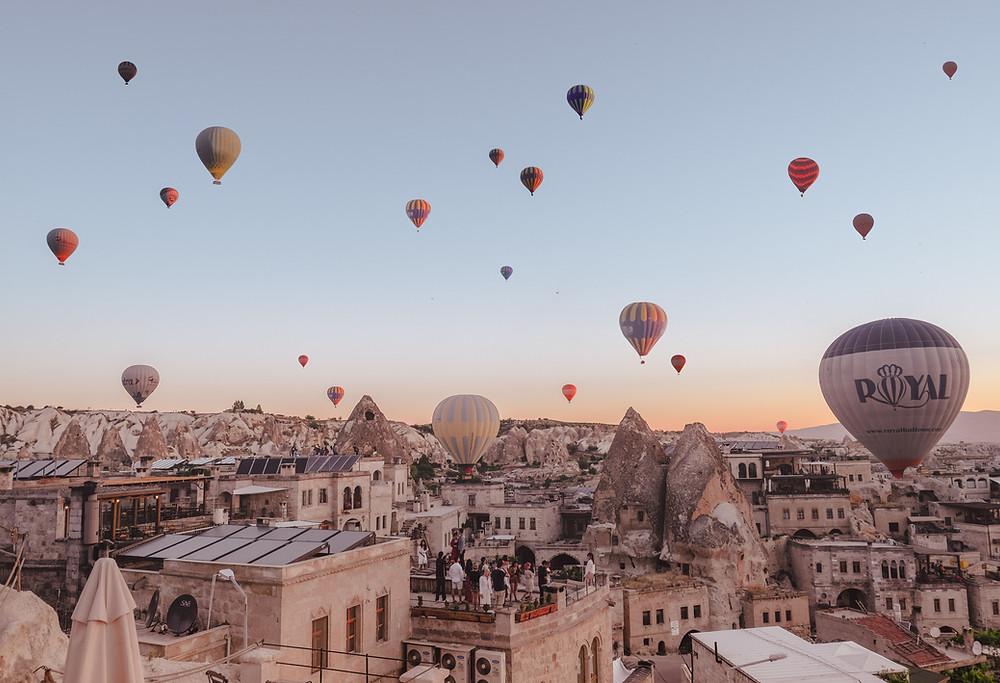 Hot air ballooning in Cappadocia is incredible