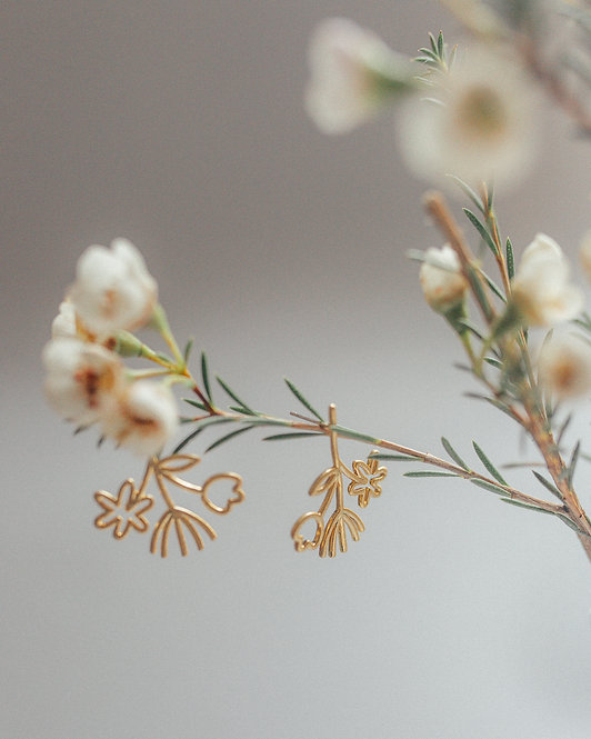 Madewell  |  TRIO PLANT FLOWER EARRINGS