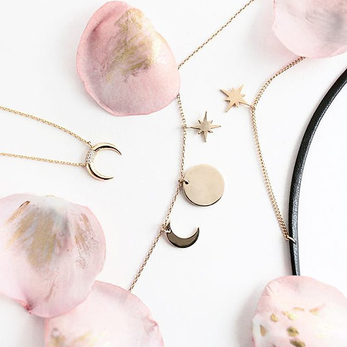 Wanderlust+Co  |  LUNA PAVE GOLD NECKLACE