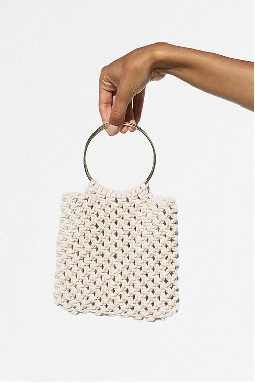 Sabo Skirt  |  MINI MACRAME RING BAG