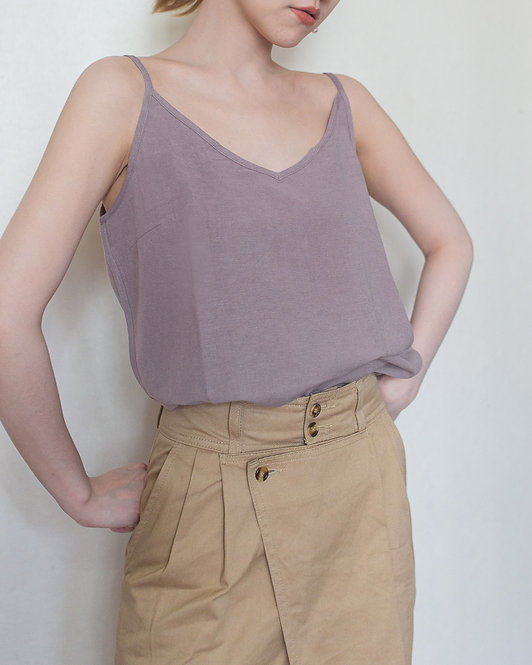 LINEN TANK TOP new color
