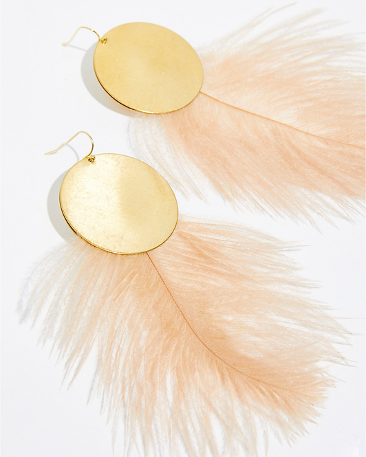 Free People  ◆  FULL MOON FEATHER HOOPS
