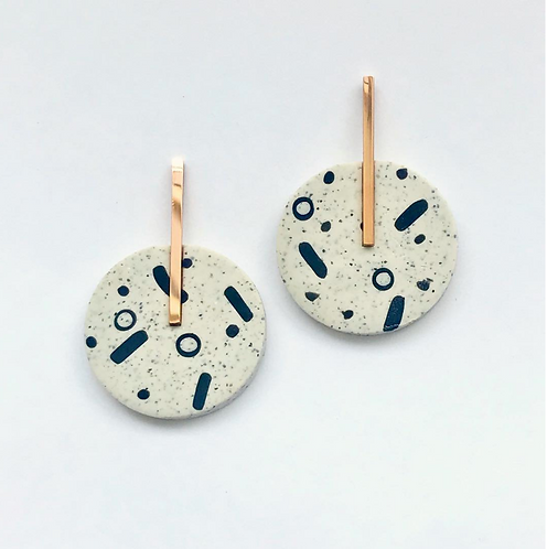 DOT LINE DROP & POP EARRINGS