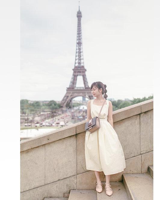 PARISIAN BACKLESS CREAM DRESS