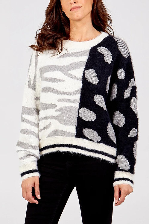 Zebra Super Soft Knit - Grey