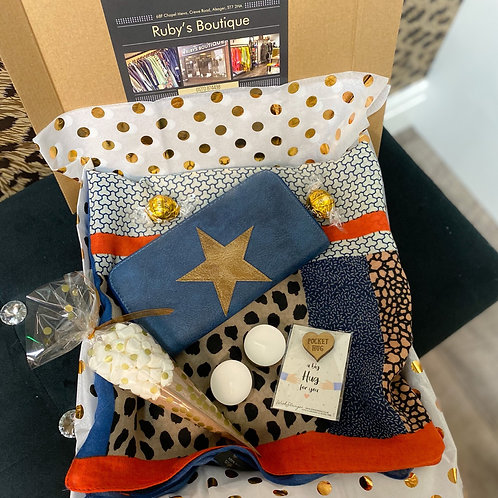 Blue Star Purse & Scarf Gift Box