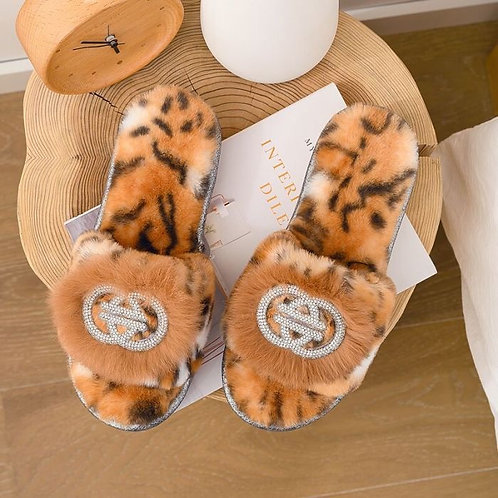 Fluffy Tiger Slippers