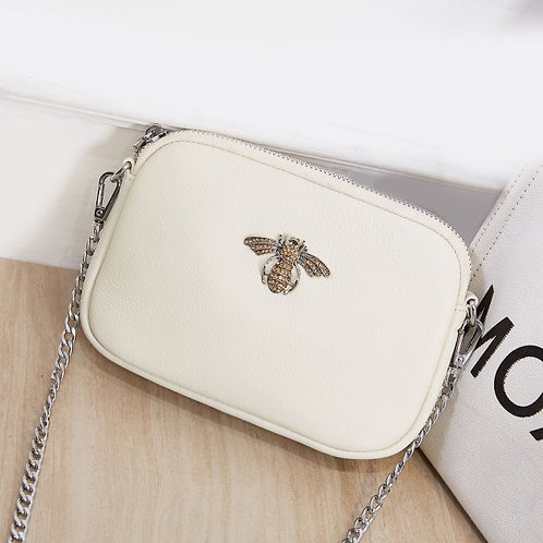 Leather Bee Chain Bag