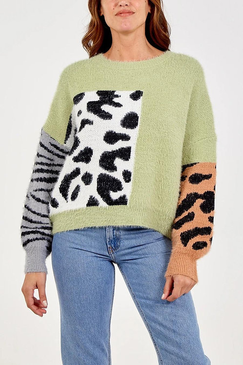 Animal Super Soft Knit - Sage