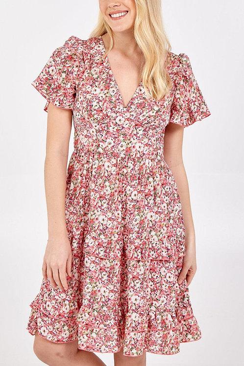 Ditsy Frill Dress