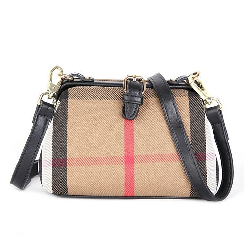 Check Print Small Structured Bag