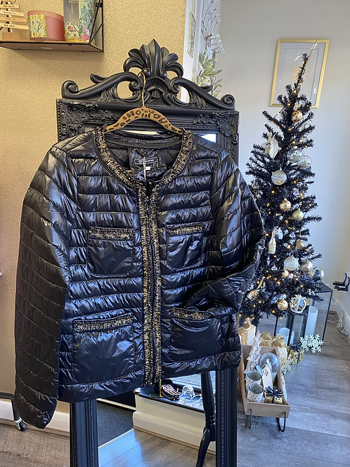 Gold Trim Quilted Jacket