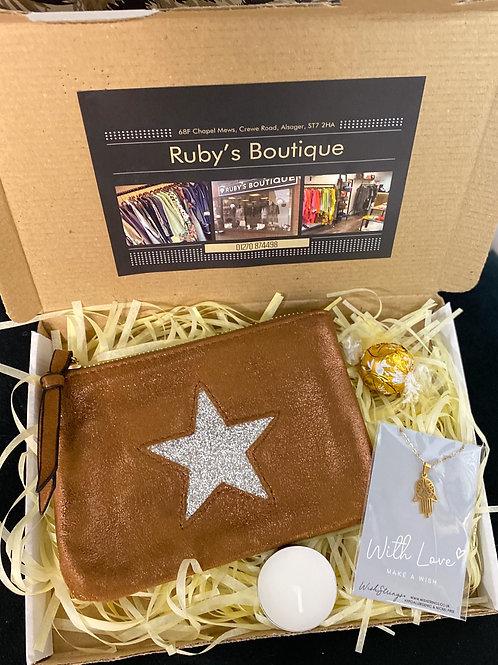 Star Purse & Hamsa Necklace Gift Box - Small