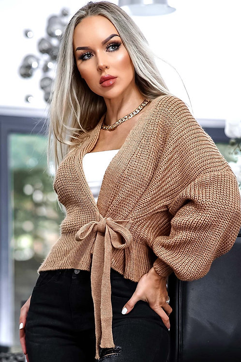 Knitted Tie Wrap Top