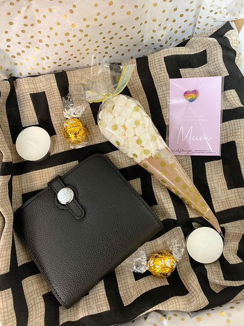 Black Purse & Scarf Mum Gift Box