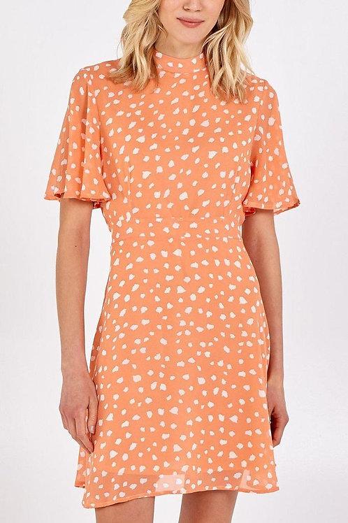 Angel Sleeve Fit & Flare Dress