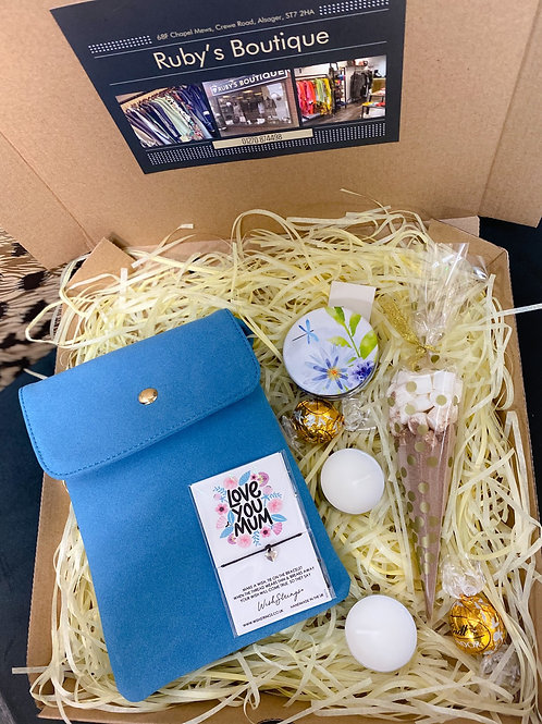 Blue Bag & Compact Gift Box